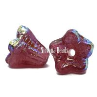 5x6mm Bell Flowers Rosewood with AB Finish