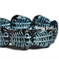 10x11mm Trilobite Black with An Electric Blue Wash