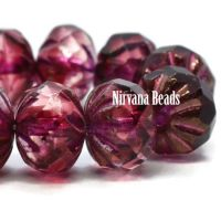 7x10mm Cruller Rosewood with a Bronze Finish and Metallic Pink Wash