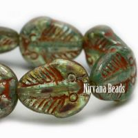 11x13mm Trilobite Sea Green with Picasso Finish