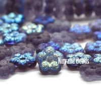 5mm Forget-Me-Not Spacers Violet with An Etched and AB Finish