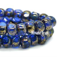 4x3mm Trica Sapphire with Gold Finish