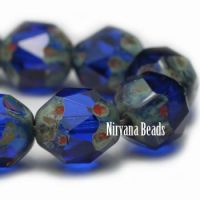 10mm Baroque Beads Sapphire with Picasso Finish