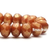 3x5mm Rondelle Alloy Orange with Golden Luster Finish