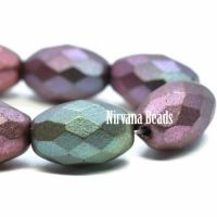 12x8mm Faceted Oval Mixed Metallic