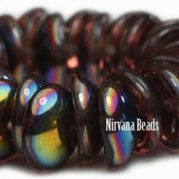 4x8mm Piggy Bead Mulberry with Metallic Luster