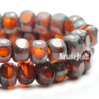 3x4mm Trica Burnt Orange with Picasso Finish