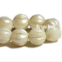 6mm Melon Ivory with Mercury Finish