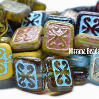 11x12mm Ornamental Rectangle All Washed Out Collection
