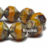 8mm Baroque Beads Yellow Gold with Picasso Finish