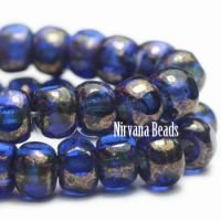 3x4mm Trica Sapphire with a Golden Finish