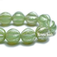 6mm Melon Celadon with Mercury Finish
