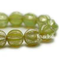 6mm Melon Moss Green with Mercury Finish