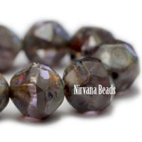 8mm Baroque Beads Grape with Picasso Finish