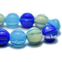 6mm Melon Blue Mix with Turquoise Wash