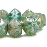 10mm English Cut Sea Green with a Picasso Finish