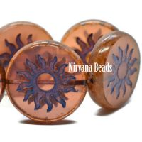 22mm Sun Coin Rosewood with a Violet Wash and Pisscao Finish