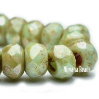 6x9mm Large Hole Roller Bead Fern with Picasso Finish