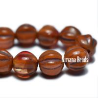 6mm Melon Alloy Orange with Brown Wash