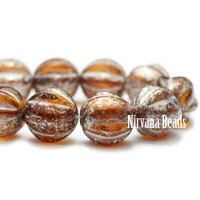 6mm Melon Amber with Mercury Finish