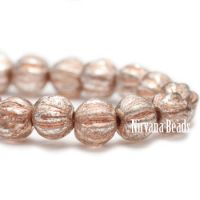 4mm Melon Peach with Mercury Finish and Copper Wash