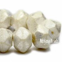 10mm English Cut Ivory with Mercury Finish