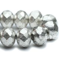 5x7mm Rondelle Antique Silver