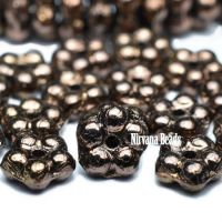 5mm Forget-Me-Not Spacers Metallic Bronze