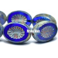 12x14mm Kiwi Sapphire and Transparent Glass with Picasso Finish
