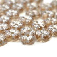 5mm Forget-Me-Not Spacers Pale Brown with a Luster Finish