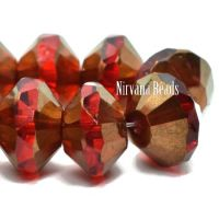 7x11mm Saucer Ruby Red with a Bronze Finish