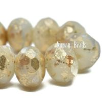 6x8mm Rondelle Ivory with a Bronze and Gold Finishes