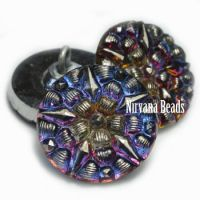 18mm Star Button Volcano Finish with Silver Accents