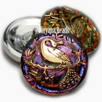 22mm Peacock Button Volcano Finish with Gold