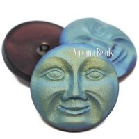 31mm Moon Face Button Voilet with AB Finish
