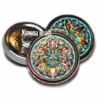 18mm Star Flower Button Vitrail Finish