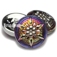 18mm Star Button Volcano with a Silver Star