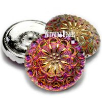 27mm Crown Button Volcano with Gold Accents