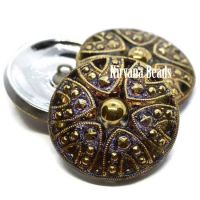 27mm Decorative Button Volcano with Gold Accents