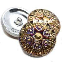 27mm Button Decorative Button Volcano with Gold Accents