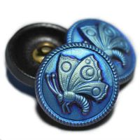 18mm Butterfly Button Black with An AB Finish