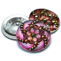 30mm Hurricane Button Volcano with Gold Accents