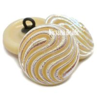 18mm Swirl Button Bone with An AB Finish