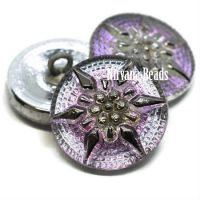 18mm Star Button Vitrail Light with Silver Star