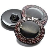 27mm Button Black with Red Finish