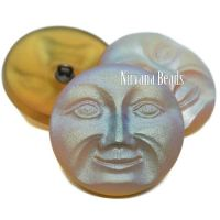 31mm Moon Face Button Yellow Gold with a Matte AB Finish