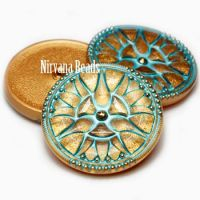 30mm Button Gold with a Tiffany Wash