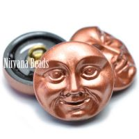18mm Moon Face Button Copper