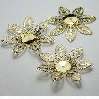 28mm Flower Oxidized Brass