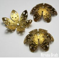 8x27mm Flower Oxidized Brass